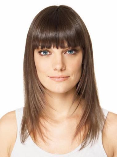 Long Straight Brown Convenient Hair Extension For Long Hair