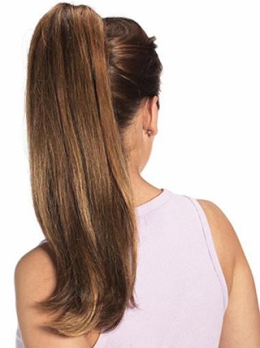 Long Stylish Human Hair Big Ponytails