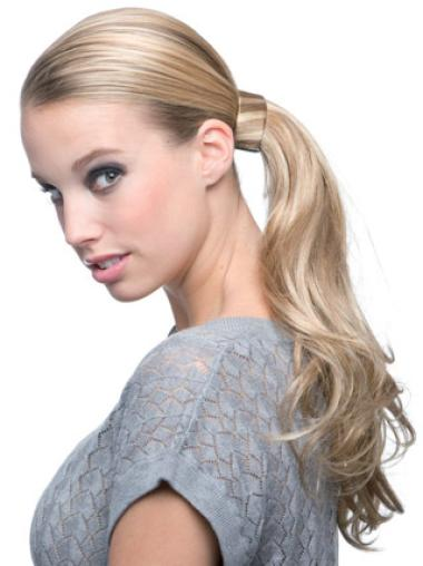 Blonde Wavy Synthetic No-Fuss Ponytails
