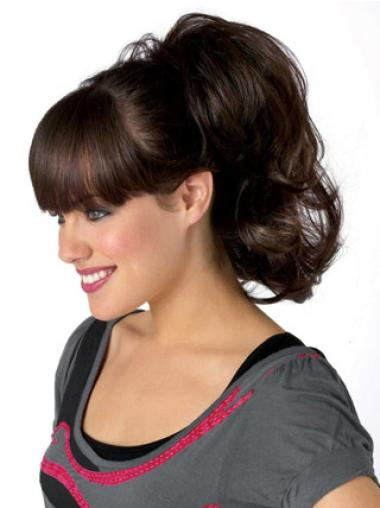 Brown Wavy Synthetic Ideal Ponytails
