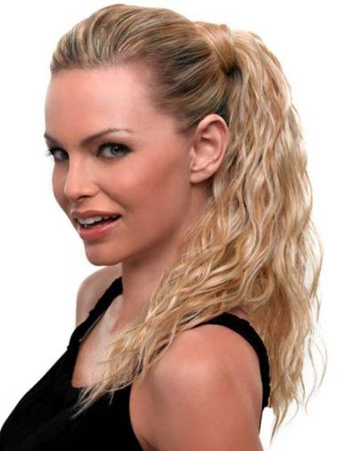 Blonde Wavy Synthetic Good Ponytails