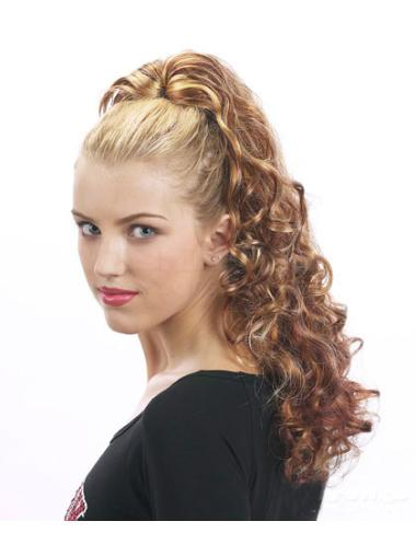Curly Synthetic 22 Inches Natural Ponytails
