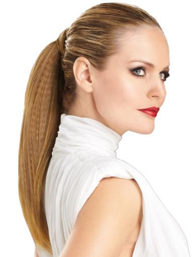 Brown Straight Synthetic Cheap Ponytails