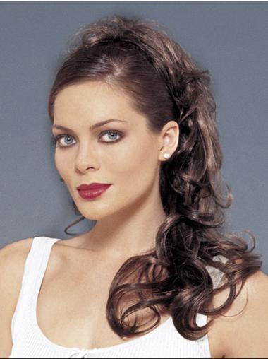 Fabulous Brown Wavy Synthetic Ponytails