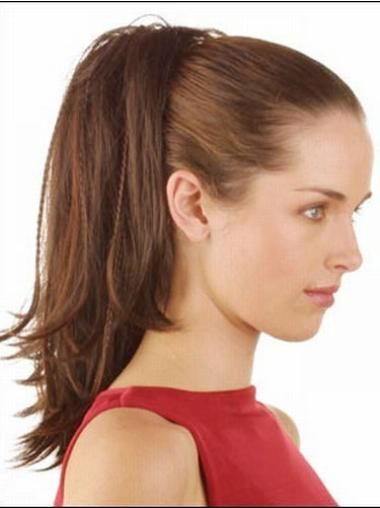 Brown Straight Synthetic Online Ponytails