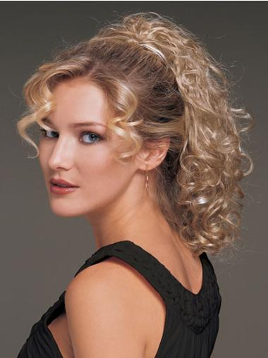 Blonde Curly Synthetic Best Ponytails