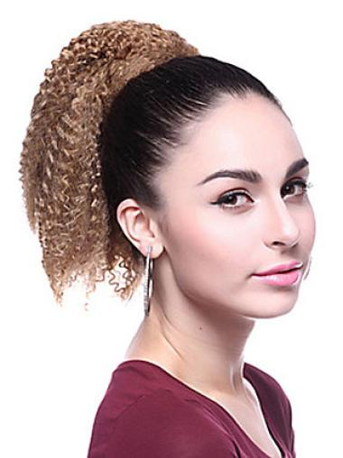Curly Synthetic 12 Inches Durable Ponytails