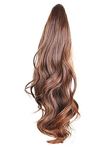 Brown Wavy Synthetic Perfect Ponytails