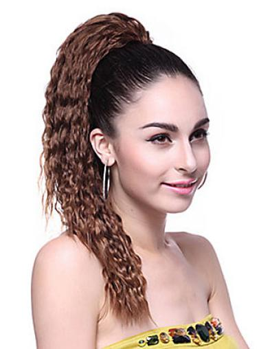 Brown Wavy Synthetic Convenient Ponytails
