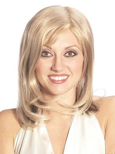 Blonde Straight Long Comfortable Human Hair Hairpieces