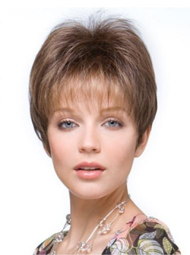 Brown Synthetic Fashion Source Easy Half Wigs