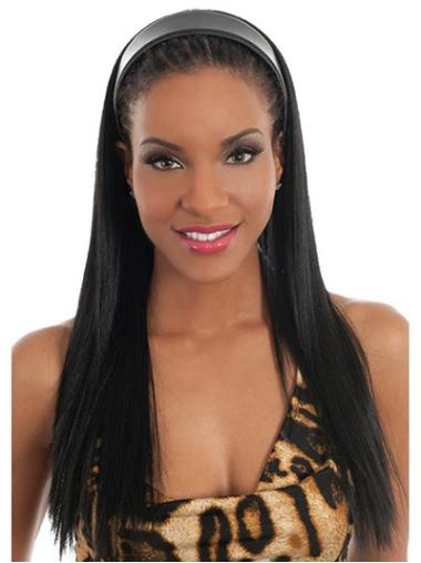 Online Straight 22 Inches Hair Falls & Half Wigs For Black Hair
