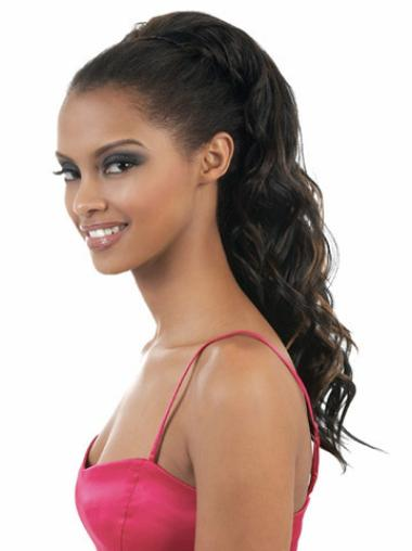 Top Wavy Long Synthetic Hair Falls & Half Wig For Black Hair