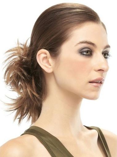 Brown Remy Human Hair Comfortable Wraps / Buns