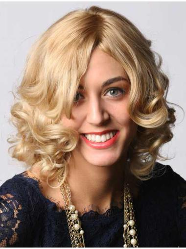 """Capless Chin Length 14"""" Style Natural Wigs Blonde"""