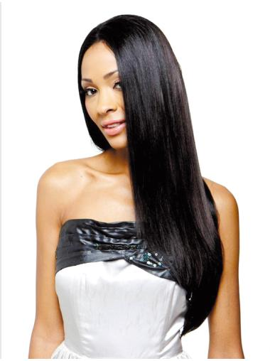 Ideal Without Bangs Long 22 Inches Synthetic Wigs