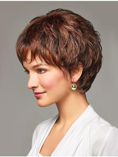 Auburn Wavy Modern Short Synthetic Wigs For Sale