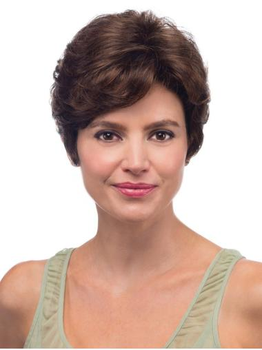 Brown Short Synthetic Flexibility Good Place To Buy Wigs