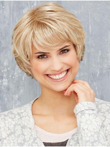 Short Straight Monofilament Blonde Bob Haircuts