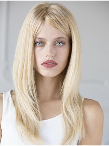 100% Hand-tied Straight Long Human Hair Wigs