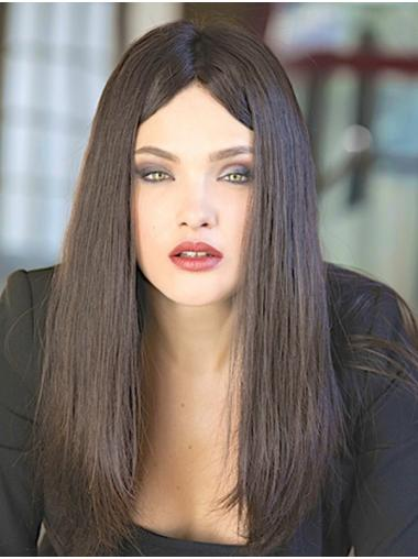 Monofilament Straight Long 100% Human Hair Wig