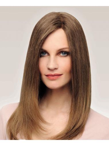 Brown 100% Hand-tied Without Bangs Long Cheap Long Wigs