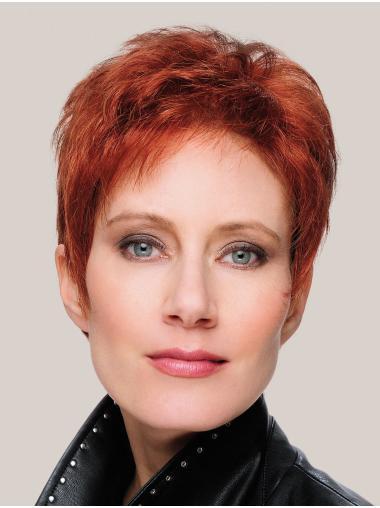 """Straight Monofilament 8"""" Copper Short Haircuts"""