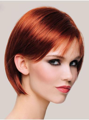 """Copper Monofilament Straight 10"""" Ladies Bobs Wigs"""