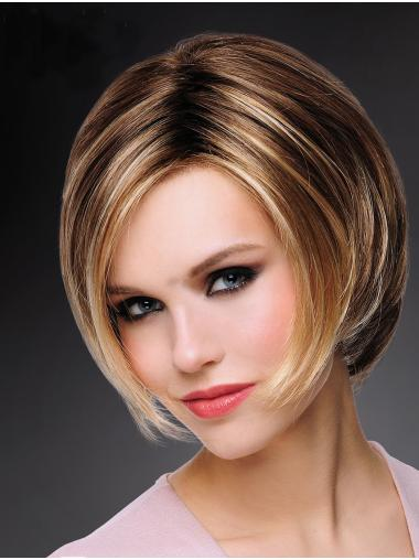 Synthetic Short Straight Blonde Natural Hair Bob Wigs