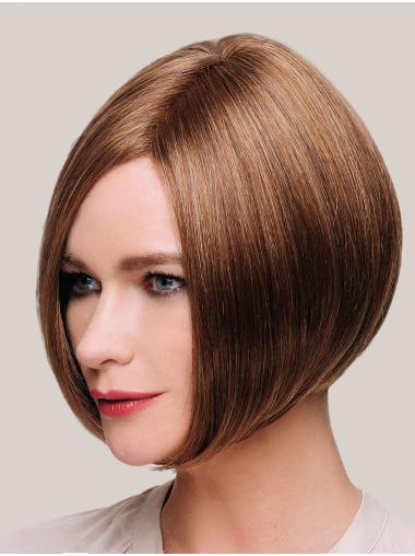 Synthetic Chin Length Straight Brown Bob Wig Styles