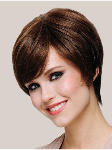 Synthetic Short Straight Brown Hair Wigs Bobs
