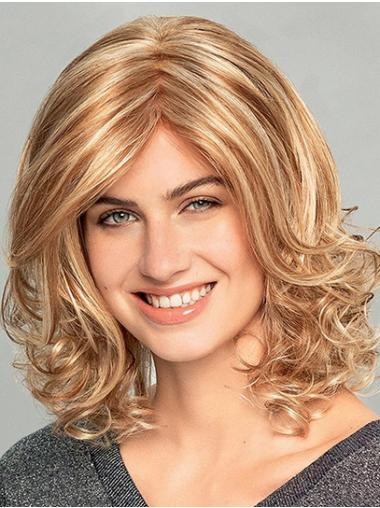 """14"""" Shoulder Length Wavy Ombre/2 tone Synthetic Bobs Monofilament Wigs New"""