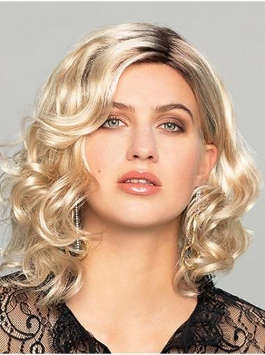 """14"""" Shoulder Length Curly Ombre/2 tone Without Bangs Best Synthetic Wigs"""