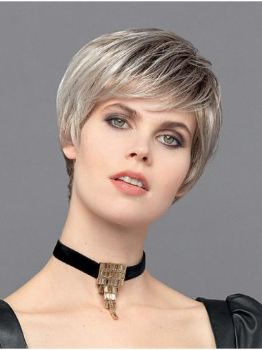 """Ombre/2 Tone 6"""" Monofilament Boycuts Synthetic Straight Ideal Short Wigs"""
