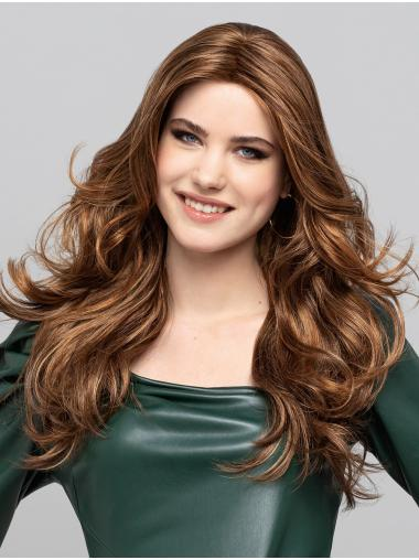 """Curly Synthetic Blonde With Highlights 18"""" Without Bangs Popular Monofilament Wigs"""