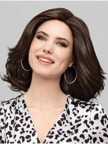 """Synthetic Monofilament Chin Length Brown Bobs 12"""" Perfect Lace Wig"""