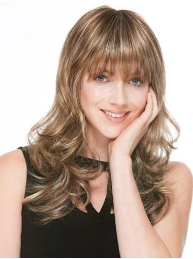 """16"""" Monofilament Synthetic Blonde Wavy Sexy Long Wigs For Women"""