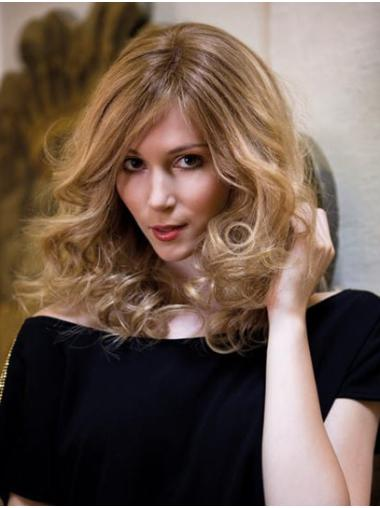 """Blonde Without Bangs Shoulder Length 14"""" Capless No-fuss Synthetic Wigs"""
