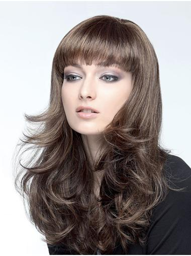"""18"""" Capless Synthetic Brown Wavy Long Hair Wig"""