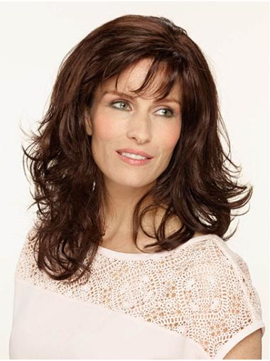 """Shoulder Length Monofilament Synthetic 14"""" With Bangs Medium Length Wigs"""