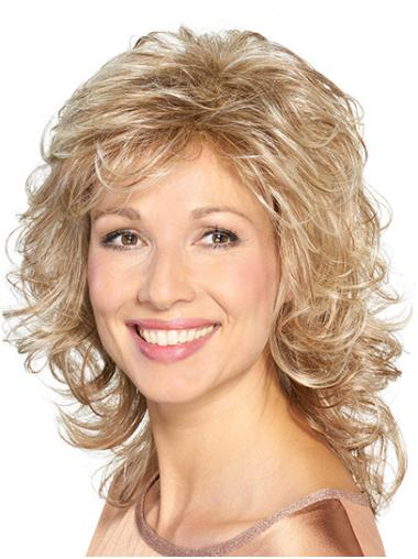 """Shoulder Length Capless Synthetic 14"""" Layered Medium Length Wigs"""
