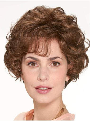 """Chin Length Monofilament Synthetic 10"""" With Bangs Beautiful Medium Wigs"""