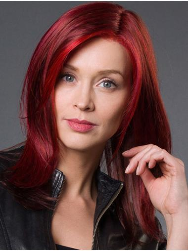 """Shoulder Length Monofilament Synthetic 14"""" Without Bangs Beautiful Medium Wigs"""