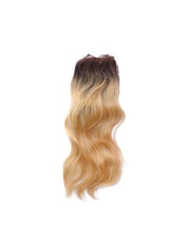 Stylish Long Remy Human Hair Lace Closure Wig