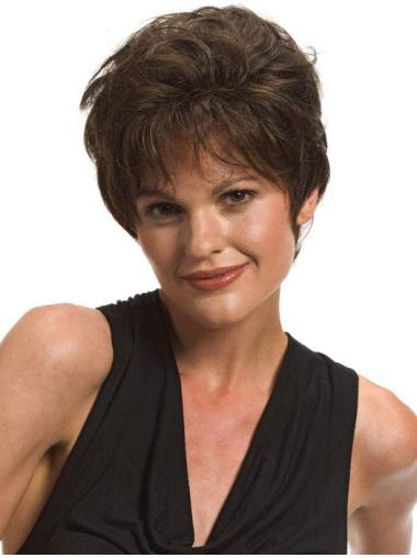 Short Lace Front 7 Inches Trendy Synthetic Wigs