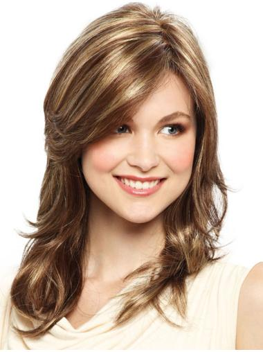 Layered Straight Synthetic Exquisite Silk Top Lace Front Wig