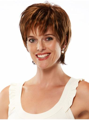 Auburn Synthetic 7 Inches Ideal Cheap Monofilament Wigs
