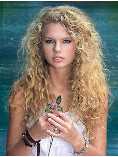 Lace Front Curly Blonde Human Hair Wig Great Taylor Swift