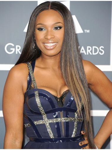 Incredible Straight Without Bangs Jennifer Hudson Human Hair Indian Lace Front Wigs