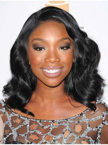 Indian Without Bangs Lace Front Jennifer Hudson Cheap Black Human Wigs